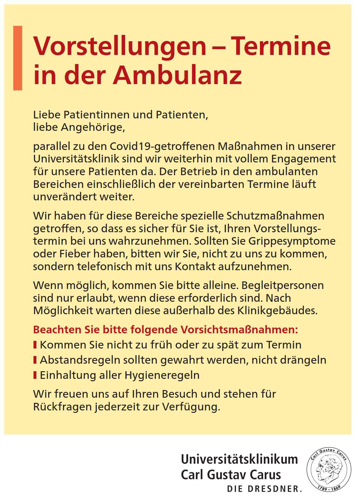 Ambulanzbetrieb unter Covid-19